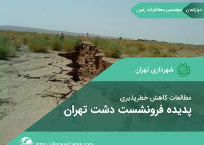 مطالعات کاهش خطرپذیری پدیده فرونشست دشت تهران